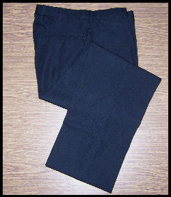 Men's Black Uniform Trousers