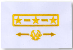 US Power Squadron - White Grade Insignia for Uniform Shirt