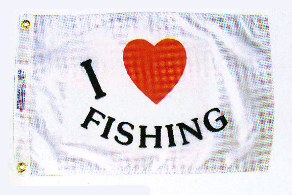 I LOVE FISHING FLAG