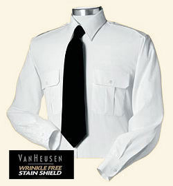 Men's Long Sleeve White Uniform Shirt