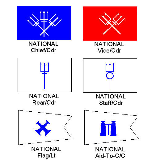 "USPS ""NATIONAL"" OFFICER FLAGS"