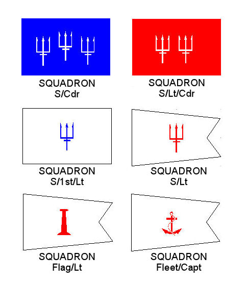 "USPS ""SQUADRON"" OFFICER FLAGS"