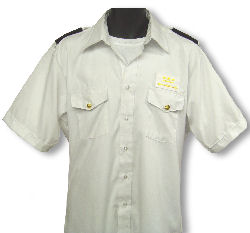 Men's White Uniform Shirt - Short Sleeve