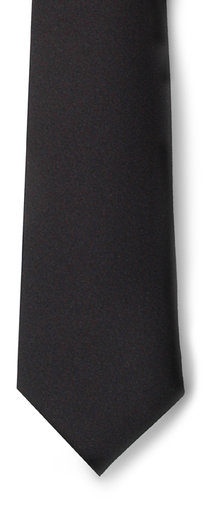 MEN'S BLACK DRESS TIE
