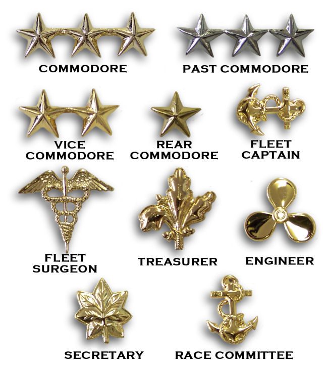Yacht Club Officer Collar Insignia - Click Image to Close