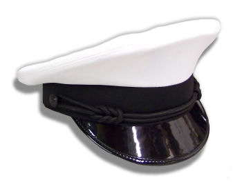 White Uniform Dress Cap