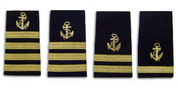 GOLD STRIPES WITH ANCHOR