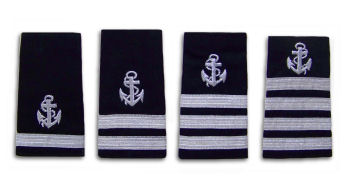 SILVER STRIPES WITH ANCHOR